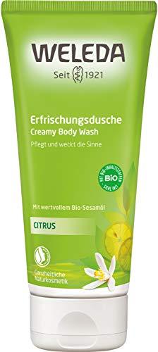 WELEDA Citrus Erfrischungsdusche, Naturkosmetik belebendes Bio Duschgel mit Zitronen Und Orangen...