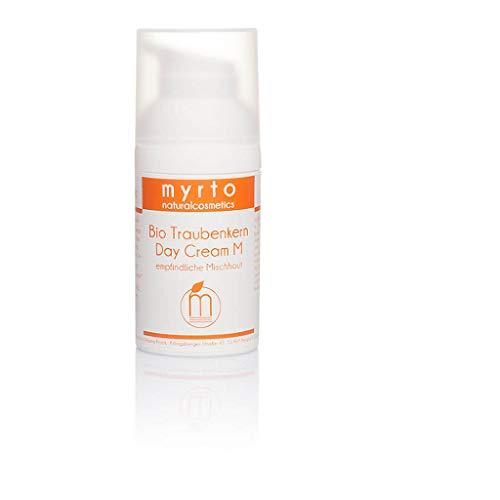 myrto – Bio Traubenkern Tagescreme M - Gesichtscreme für empfindliche Mischhaut| gegen unreine...