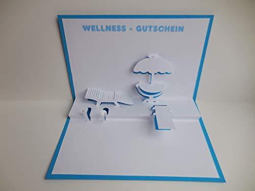 Pop up Karte - Wellness-Gutschein