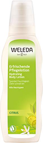 WELEDA Citrus Erfrischende Feuchtigkeitslotion, Naturkosmetik Bodylotion zur intensiven Pflege von...