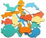 Badesticker Badespielzeug - Moosgummi Tiere Motiv Wasser Stärke 0,8cm - 15 Stück...