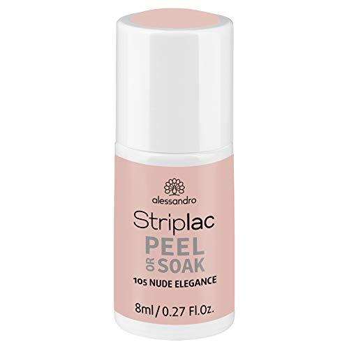 alessandro Striplac Peel or Soak Nude Elegance – LED-Nagellack in elegantem Nude – Für perfekte...