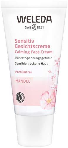 WELEDA Mandel Sensitiv Gesichtscreme, Naturkosmetik Feuchtigkeitscreme zur Pflege trockener,...