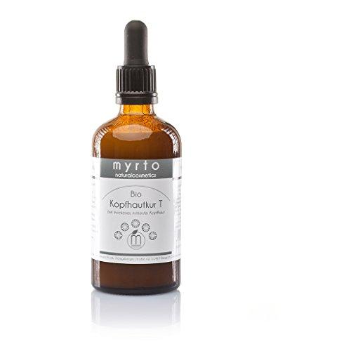 myrto – Bio Kopfhautkur T - Serum gegen juckende Kopfhaut und trockene Schuppen | ohne Duftstoffe...