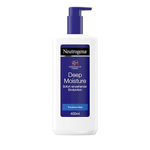 Neutrogena Deep Moisture Sofort einziehende Bodylotion, Norwegische Formel, Körpercreme, Trockene...
