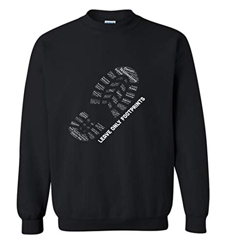 Situen Natio.nal Pa.rks Boot Print Listing All NATI.onal Pa.rks Sweatshirt for Men and Woman
