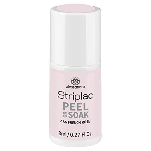 alessandro Striplac Peel or Soak French Rosé – LED-Nagellack in zartem Rosé für eine klassische...