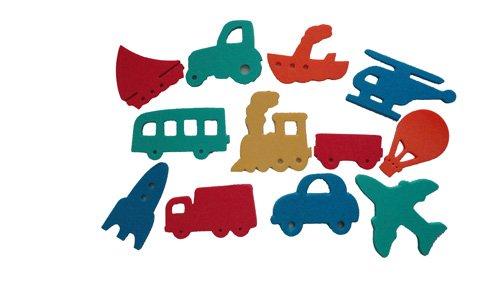 Badesticker Badespielzeug - Moosgummi Fahrzeuge Autos Wasser Stärke 0,8cm - 12 Stück...