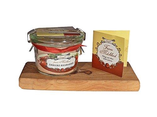 Einseifer Feines Milchbad Erdbeere & Rhabarber Im Glas