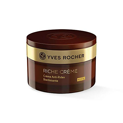 Yves Rocher RICHE CRÈME Antifalten Verwöhn-Nachtpflege, Gesichtscreme Nacht, für reife Haut, 1 x...