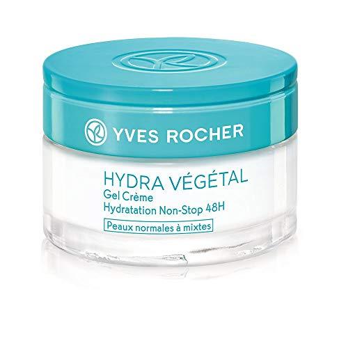 Yves Rocher HYDRA VÉGÉTAL Gel-Creme Non-Stop Feuchtigkeit 48h, Feuchtigkeitscreme für Tag &...