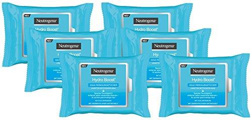 Neutrogena Hydro Boost Aqua Reinigungstücher, Abschminktücher für normale, empfindliche und...