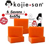 Ultra Pack 6 Original Kojie San Lightening Soaps of 65g, Authentic Kojic Acid Skin Lightening Soap...