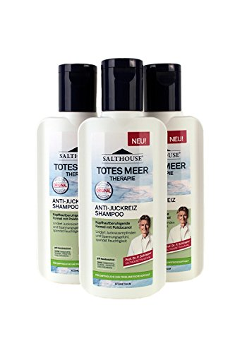 Salthouse Totes Meer Therapie Anti-Juckreiz Shampoo 250ml, Menge:3er Pack