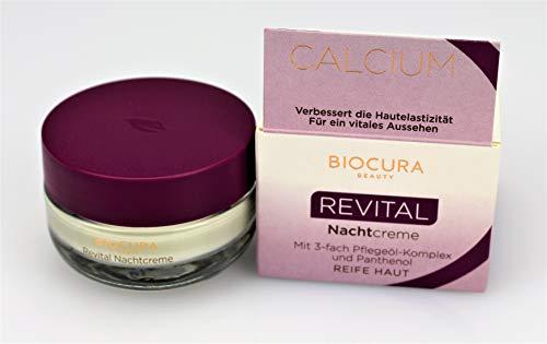 BIOCURA Beauty Calcium REVITAL Nachtcreme mit 3-fach Pflegeöl-Komplex und Panthenol 50 ml
