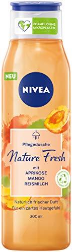 NIVEA Nature Fresh Pflegedusche Aprikose (300 ml), sanft reinigendes Duschgel mit einer Formel ohne...