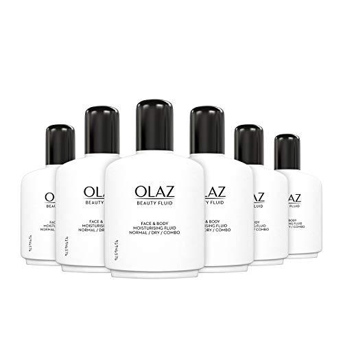 Olaz Beauty Feuchtigkeitsfluid Gesicht & Körper, 6er Pack (6 x 200 ml), Normale Trockene Mischhaut