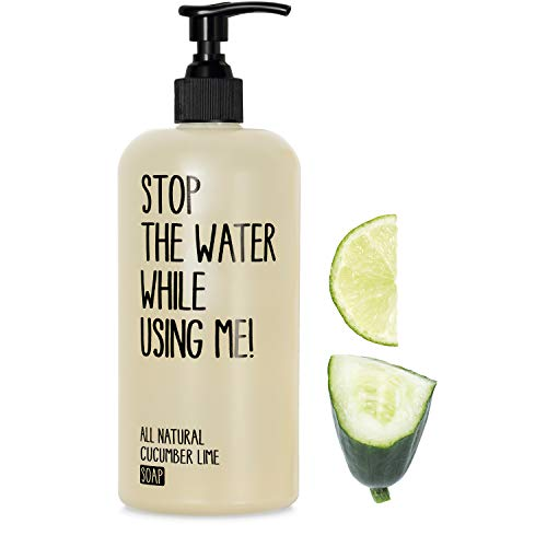 STOP THE WATER WHILE USING ME! All Natural Cucumber Lime Soap (200ml), vegane Handseife im...