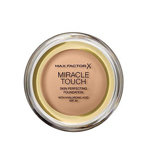 Max Factor Miracle Touch Foundation in der Farbe 60 Sand – Intensives, pudriges Make-up für ein...