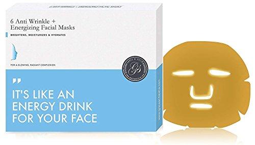 Gesichtsmasken mit Gold-Kollagen (6 Stück) 24k Bio-Kollagen-Pulver, hydratisierende Maske Vegan |...