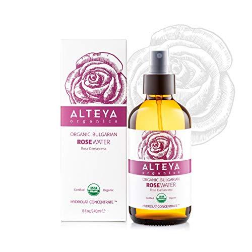 Alteya Bio Rosenwasser Spray in Glasflasche 240 ml- 100% USDA Organic-zertifiziert Rein Natürlich...