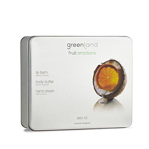 Greenland Hautpflege Set Kokos Manderine | Cremige Body Butter, wohlduftende Lippenpflegestift &...