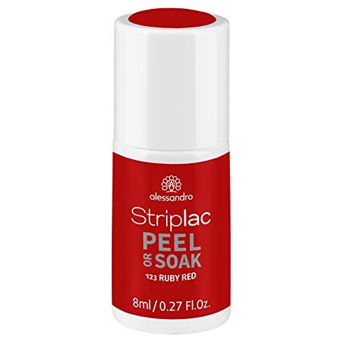 alessandro Striplac Peel or Soak Ruby Red – LED-Nagellack in Rot – Für perfekte Nägel in 15...