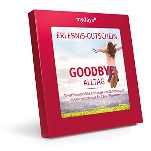 mydays Erlebnis-Gutschein Goodbye Alltag, über 200 Erlebnisse für 1-2 Personen, Geschenk Freundin,...