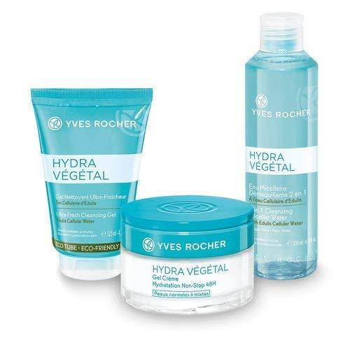 Yves Rocher HYDRA VÉGÉTAL Pflege-Set, Geschenk-Set für Frauen mit normaler Haut, mit Eau...