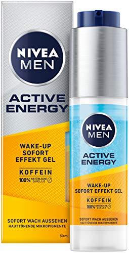 NIVEA MEN Active Energy Wake-up Sofort-Effekt Gel (50 ml), Gesichtscreme für Männer mit 100%...