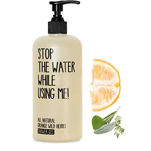 STOP THE WATER WHILE USING ME! All Natural Orange Wild Herbs Shower Gel (200ml), veganes Duschgel im...