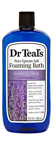 Dr. Teal's Pure Epsom Salz Schaumbad zur Beruhigung und Schlaf mit Lavendel, 1 l