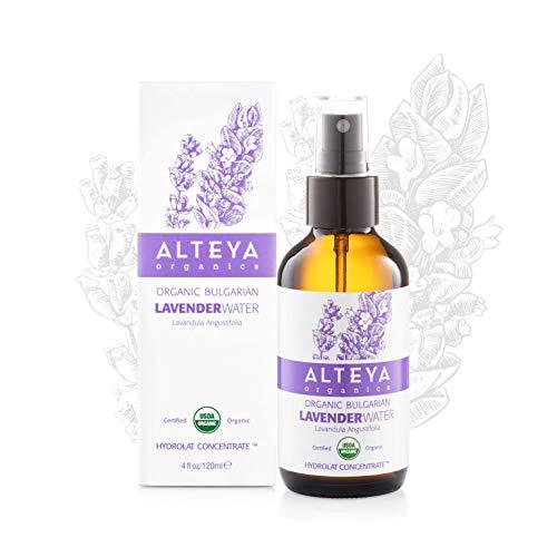 Alteya Bio Lavendelwasser Spray in Glasflasche 120ml - 100% USDA Bio-zertifiziert Authentisch Rein...
