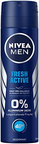 NIVEA MEN Fresh Active Deo Spray im (150 ml), Deo ohne Aluminium (ACH) mit erfrischender Formel,...