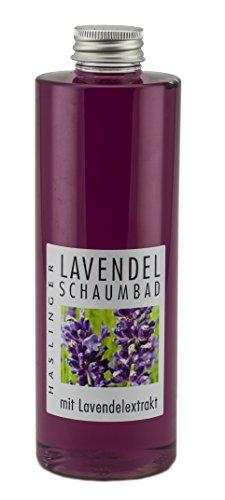 Lashuma Schaumbad Lavendel mit Lavendelextrakt, Hautpflege Bad 400 ml, Badeschaum zum Entspannen,...