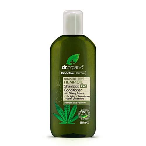 Dr. Organic 2 in 1 Haarshampoo und -spülung Hemp Oil 250 ml, Preis/100 ml: 3.59 EUR