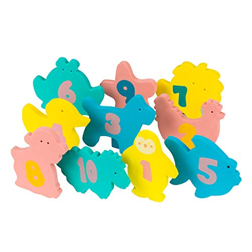 Clevamama 3507 Baby Badespiezeug - (10-Teilig), Mehrfarbig
