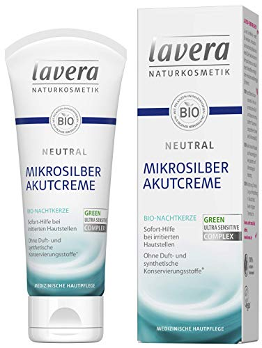 lavera Neutral Akutcreme mit Mikrosilber ∙ Bio Nachtkerze ∙ Sofortige Hilfe bei Hautirritationen...