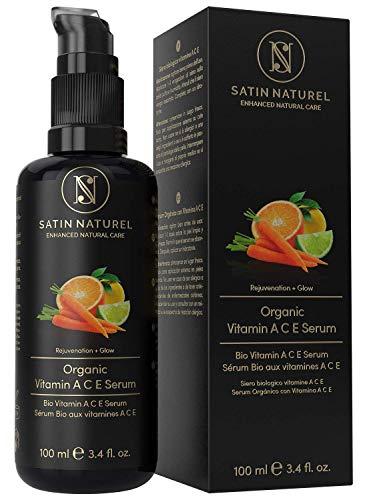 BIO Vitamin ACE Anti-Aging Serum mit Hyaluronsäure + Retinol - 3-FACHE GRÖßE 100ml –...