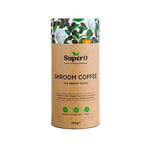 Super U Shroom Coffee (60 Portionen) – Löslicher Bio-Pilzkaffee mit Chaga, Cordyceps und...
