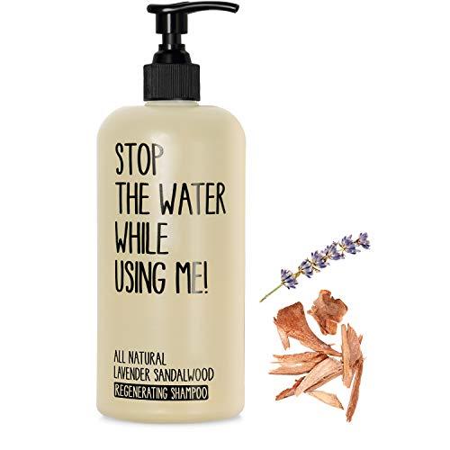 STOP THE WATER WHILE USING ME! All Natural Lavender Sandalwood Regenerating Shampoo (500ml), veganes...