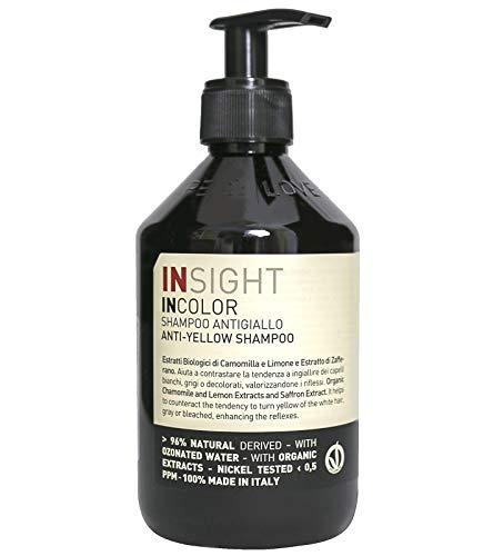 INSIGHT INCOLOR Haar-Pflege aufhellendes Anti-Gelbstich Shampoo mit Kamillenextrakt Beauty-Pflege...