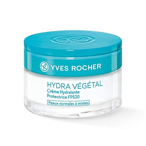 Yves Rocher Hydra Végétal schützende Feuchtigkeits-Creme LSF 20, schützende Tagespflege, vegan,...