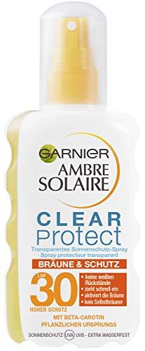 Garnier Ambre Solaire Clear Protect Bräune und Schutz transparentes Sonnenschutz-Spray mit LSF 30...