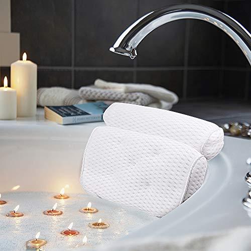 AmazeFan Badewannenkissen, Luxus Badewanne & Spa-Kissen mit 4D-Air-Mesh-Technologie und 7...