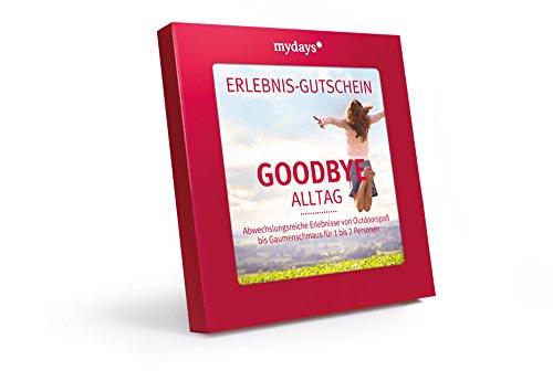 mydays Erlebnis Gutschein Goodbye Alltag in Geschenkbox, über 200 Erlebnisse