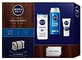 NIVEA MEN Männertrip Geschenkset, Weekender Bag für Männer mit Pflegeshampoo, Pflegedusche und...