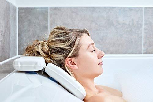 Badewannenkissen: Beste Badekissen von Tranquil Beauty für Kopf und Nacken – Baden mit Komfort...