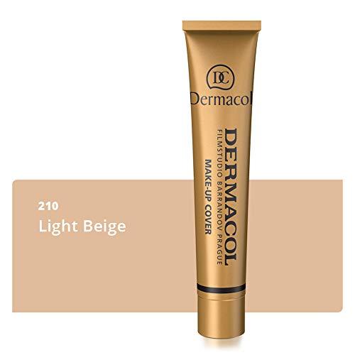 Dermacol Deckendes Make-up Cover für Gesicht und Hals - Wasserfeste Foundation mit LSF 30 für...