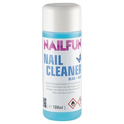 NAILFUN Nail-Cleaner blau [100ml] Spezial Reinigungsflüssigkeit für den Naturnagel - reinigt und...